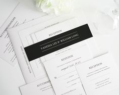 Black & White Wedding Invitations | Wedding Photos - Pictures by WeddingsofJoy.com