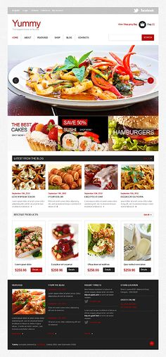 Cafe and restaurant joomla template template web layout and user delicacy catering jigoshop theme forumfinder Gallery
