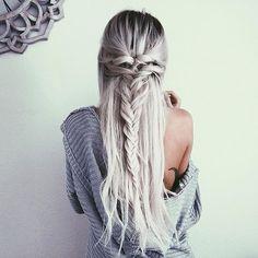 half up hair styles blonde braid