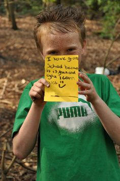 """I love forest school because it is fun and you learn a lot."""
