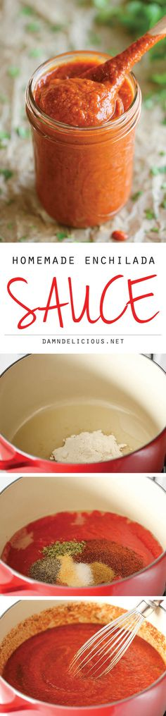 Homemade Enchilada Sauce - You'll never want store-bought enchilada sauce after making this super easy, no-fuss hom