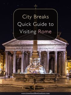 Quick Guide to Visiting Rome in Italy. Including information on getting around, suggestions of things to do and more - Italy Destinations, Italy Travel Tips, Rome Travel, Travel Europe, Things To Do In Italy, Voyage Europe, Italy Tours, Backpacking Europe, Italy Vacation