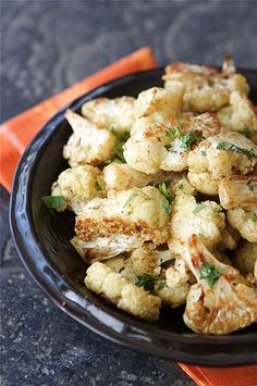 Roasted Cauliflower with Indian Spices - the best cauliflower recipe ever! It's beyond good. :)