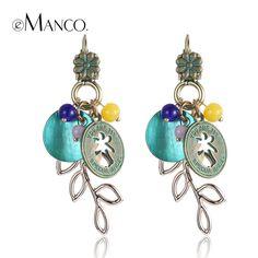 //Ancient bronze alloy earring shell dangle earring// ethnic summer style long earrings for women gold plated brincos eMancoкупить в магазине EMANCO ACCESSORIES (HK) CO., LIMITED--Fashion jewelryнаAliExpress