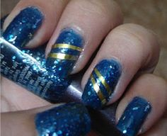 DIY: Glitter Polishes And Stripping Tapes