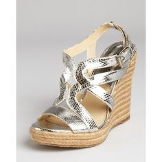 Michael Michael Kors Wedges - Palm Beach Espadrille ($69) found on Polyvore
