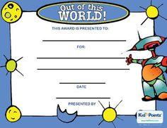 Behavior Award Certificate | Kid Pointz