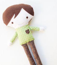 Doll Sewing Pattern Boy Doll Sewing Pattern by GandGPatterns. $10.00, via Etsy.