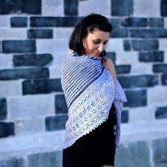 Embraceable You - Pre-order - Knitting shawl kit - Tussah Silk Fingering & pattern