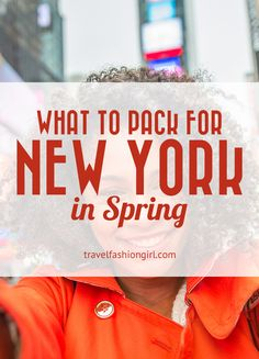 What to Pack for New York in Spring