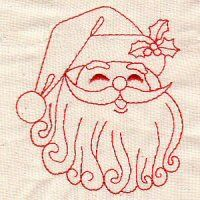 Free Redwork Hand Embroidery Designs | Redwork Christmas 15
