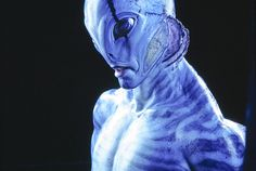 Steve Wang played a large part in the design, prosthetic makeup creation, and color design for this memorable creature character portrayed by Doug Jones.