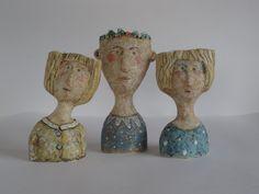 Ceramic Decor, Ceramic Planters, Ceramic Art, Pottery Sculpture, Sculpture Clay, Petra, Beginner Pottery, Head Planters, Pot Plante