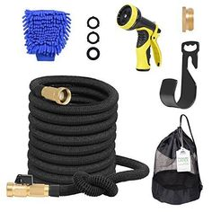 Adoric Life Flexible Expandable Garden Hose, Latex Core Expanding Water Hose with Solid Brass Connectors, 9 Functions Spray Nozzle for Home, Garden, Car Washing & Heavy Duty Water Garden, Garden Hose, Drip System, X Car, Water Hose, Drip Irrigation, Pressure Washing, Brass Fittings, Pool Houses