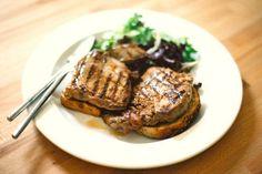 Medium-rare rib eye on toast. #food #steak