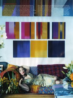 Ptolemy Mann hand dyed and woven textile art.
