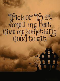 """Trick or treat"" printable (8x10)   Love Bakes Good Cakes"
