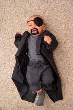 Nick Fury Avengers baby costume