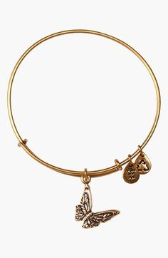 Alex and Ani 'Butterfly' Expandable Wire Bangle available at #Nordstrom