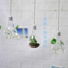 Terrarium ampoule vide / / air plante suspendu par NewDreamWorld