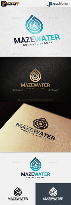 Maze Water Logo Template Vector EPS, AI. Download here: http://graphicriver.net/item/maze-water-logo/15019508?ref=ksioks