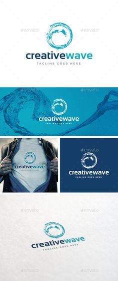 Creative Wave Logo Template (Transparent PNG, JPG Image, Vector EPS, AI Illustrator, Font, Resizable, CS, aqua, beach, blue, clean, creative, drop water, fresh, health, ocean, profesional, river, sea, water, wave, waves)