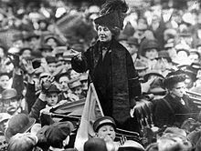 After selling her home, British activist Emmeline Pankhurst travelled constantly, giving speeches throughout Britain and the United States. One of her most famous speeches, Freedom or death, was delivered in Connecticut in 1913.