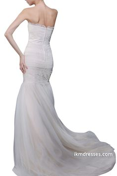 http://www.ikmdresses.com/Women-Strapless-Off-the-Shoulder-Lace-Tulle-Zipper-up-White-Ivory-Wedding-Dresses-Bridal-Gown-p88755