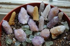 Spirit Quartz - higher consciousness, purification and protection, releasing fears. Crown Chakra