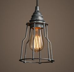 RH's Industrial Caged Filament Pendant