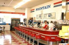 Ball Brothers Fountain ~ Atchison, Kansas. Formally Domann's Drugs.