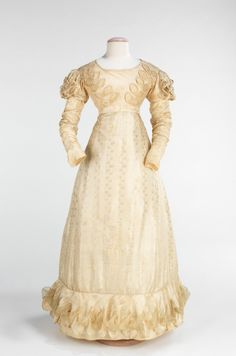 Wedding Dress 1824, Brooklyn Museum Costume Collection at the Met