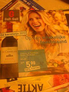 het sterke aan deze brochure is dat er wordt laten zien dat er wijnen worden aangeboden met korting voor kerst.