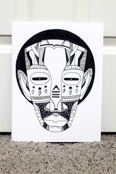 This is a collection of African mask drawings inspired by African tribal art. African masks are magical and one of the most powerful symbol of ancient African ancestors. Are you looking for African masks and African line art for inspiration? These artworks are part of an art series created to represent a contemporary approach to traditional African mask art.