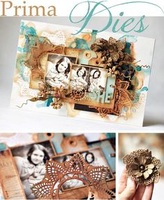 Prima's Dies Tutorial ~ Have you seen our new metal dies? They are simply magnificent, creating the most intricate doilies, flowers, and leaves! Today, Ania Hababicka will show us two ways to use the dies!