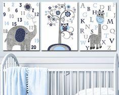 Nursery Sets, Baby Boy Nursery Decor, Baby Boy Rooms, Baby Boy Nurseries, Nursery Prints, Art Wall Kids, Art For Kids, Wall Art, Alphabet Nursery