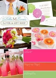 Pink Wedding Color Combination Palette Ideas