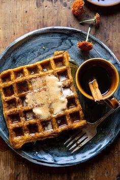 Pumpkin Waffles, Pumpkin Pie Mix, Pumpkin Butter, Pancakes And Waffles, Canned Pumpkin, Pumpkin Spice, Vegan Pumpkin, Breakfast For Dinner, Breakfast Recipes