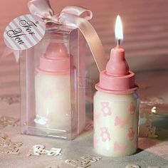 Pink Baby Bottle Candle Favors, 1 by FavorWarehouse. Save 99 Off!. $2.15. Adorable and festive, these blue baby bottle candle favors will really light up your guests' day. Your baby's here or on his way - so share your most joyful announcement with your friends and family with these baby bottle candle favors. Each candle measures 3 x 1 x 1.25 and is made of white wax w. with these baby bottle candle favors. Each candle measures 3 x 1 x 1.25 and is made of white wax with cheerful baby...