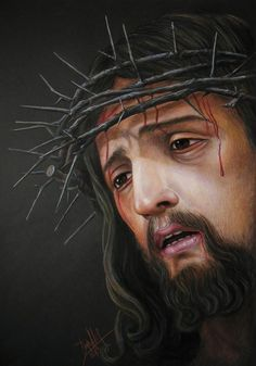 Pictures Of Jesus Christ, Religious Pictures, Heaven Painting, Spanish Prayers, Jesus Drawings, Image Jesus, Jesus Tattoo, Religious Tattoos, Jesus Face