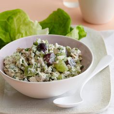 Chicken Salad with Blue Cheese and Grapes