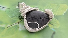 Fossil coral silver platted pendant by WireandthingsByTania on Etsy