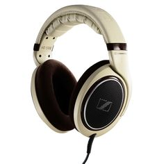 Sennheiser HD598 Audiophile Headphones with Burl Wood Accents