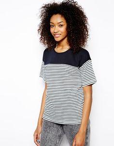 Enlarge Daisy Street Boxy T-Shirt in Stripe