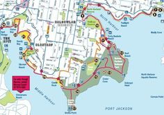 Manly Scenic Walkway map of section 1