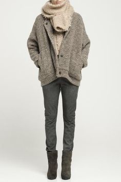 Can't get enough of skinnies, boots, comfy jackets and big scarves!