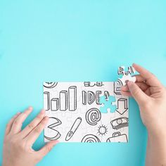 Free Creative Jigsaw Puzzle Mockup in PSD - DesignHooks Web Design, Book Design, Graphic Design, Puzzle Shop, Mockup, Jigsaw Puzzles, Branding Design, Concept, Creative