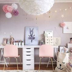 Every little girls dream bedroom in the home of @interiorbysarahstrath  You can shop the Tellkiddo storage sacks and Mrs Mighetto prints in our store, we have a wide variety available and ready to ship now. Website link in our bio! Have a fab weekend ✌️