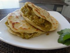 Flour Gorditas: Chicken and Potato in Green Chile