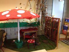 Klasinrichting - thema herfst Animal Habitats, Kindergarten Science, Forest School, Teacher Tools, Pre School, Seasons, Kids, Mushroom, Fall